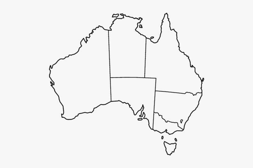 Australia Map Transparent.Australia Map Template Map Of Australia Outline Png Image
