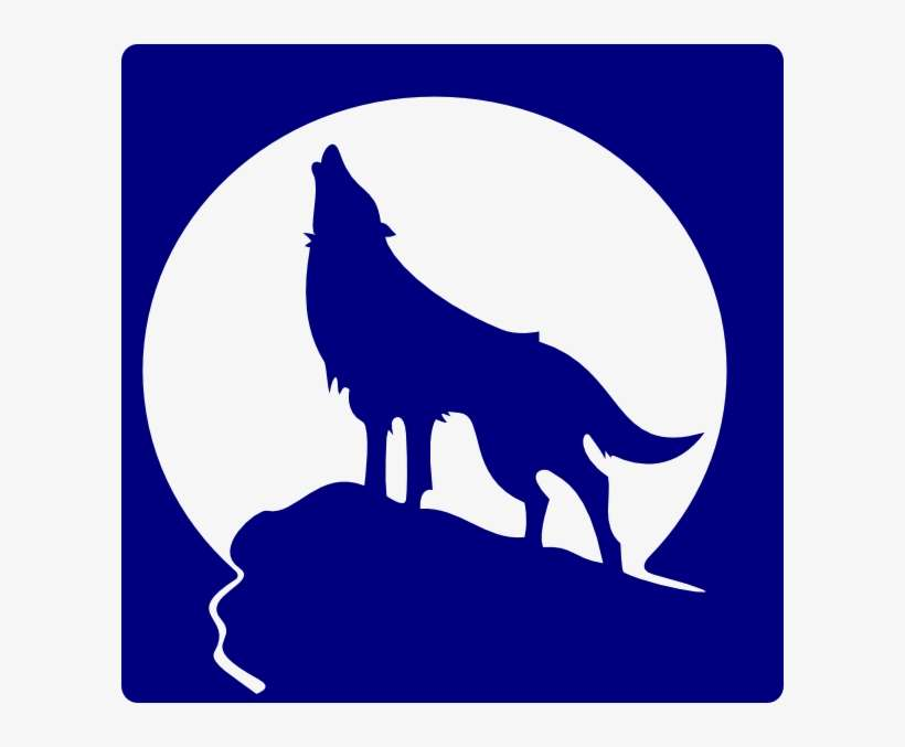 Logo Blue Wolf Howling - Wolf Howling At Moon Clipart@seekpng.com