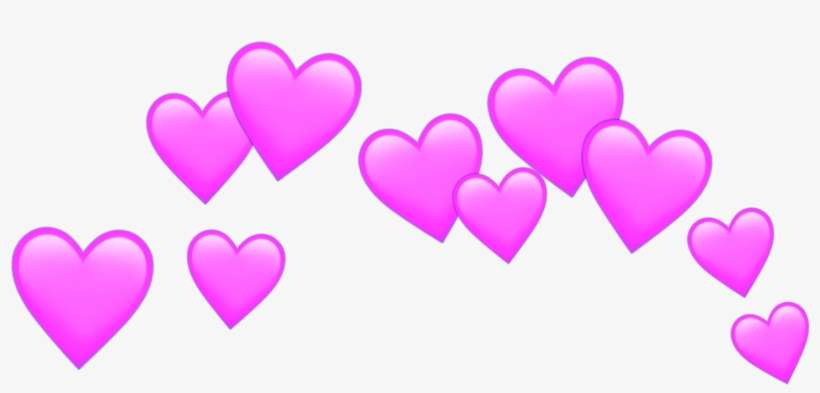 Heart Hearts Crown Tumblr Overlay Pink Png Www Heart - Heart PNG