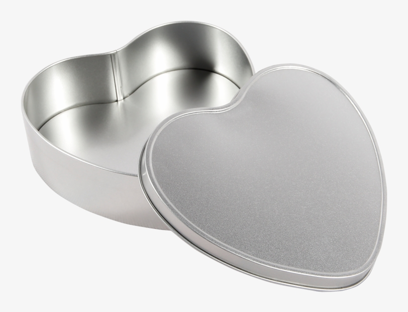 Recyclable Tin Plate Heart Shape Empty Tin Plate Metal