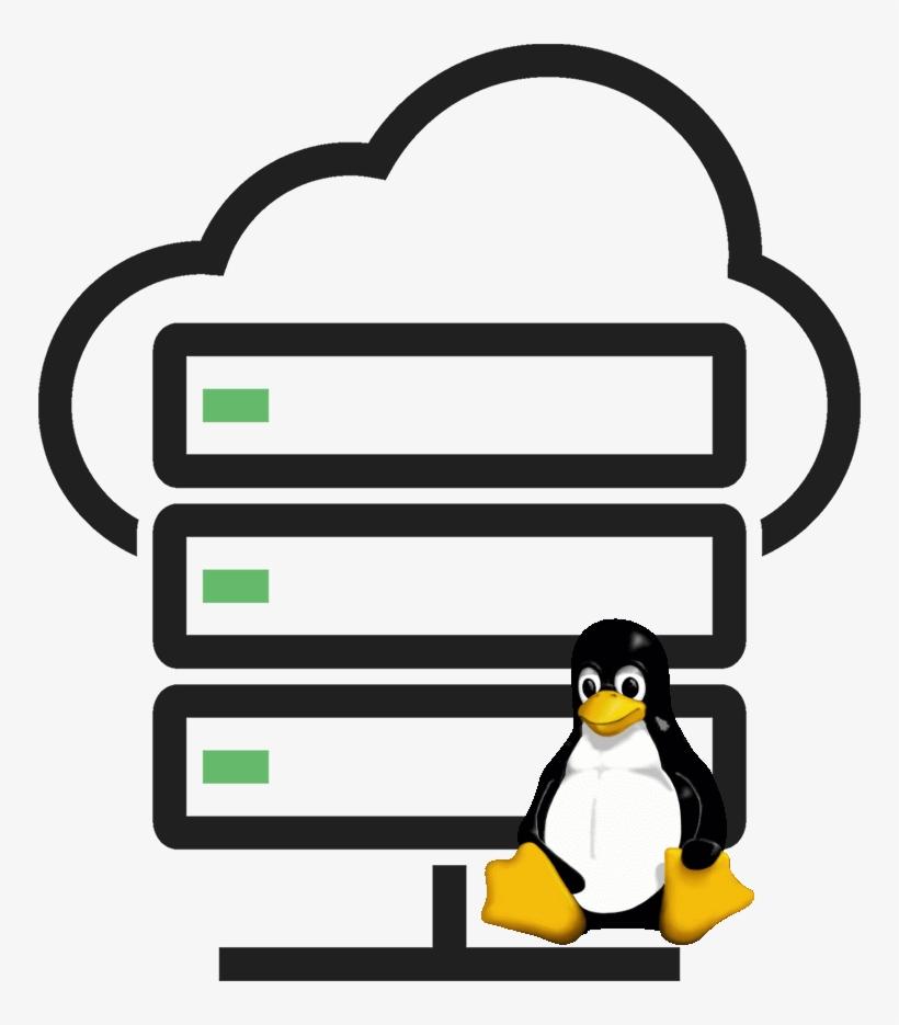 Linux Hosting Clipart Penguin - Cloud Server Icon Png PNG Image
