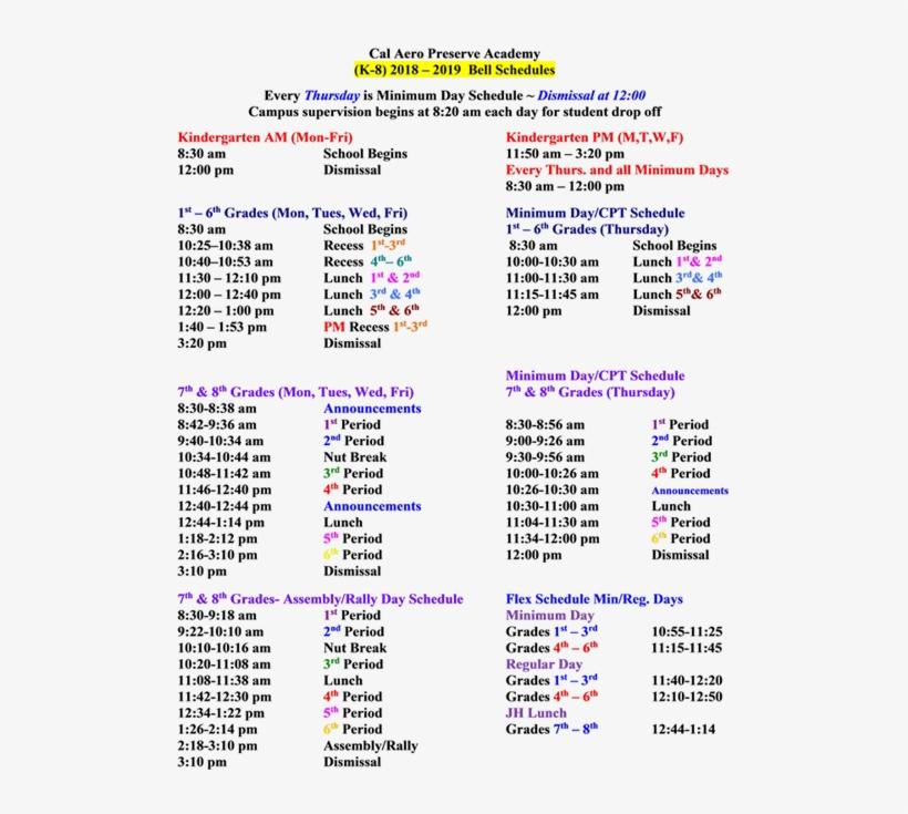 chino hills high school bell schedule