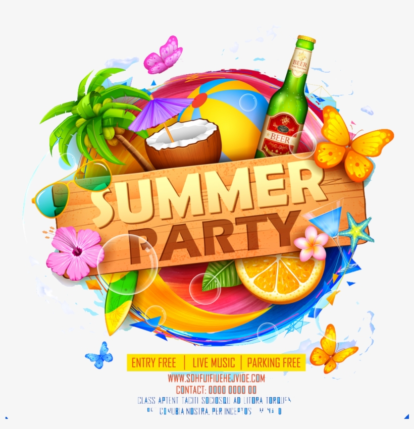 Summer Party Png Image Download - High Resolution Flyer