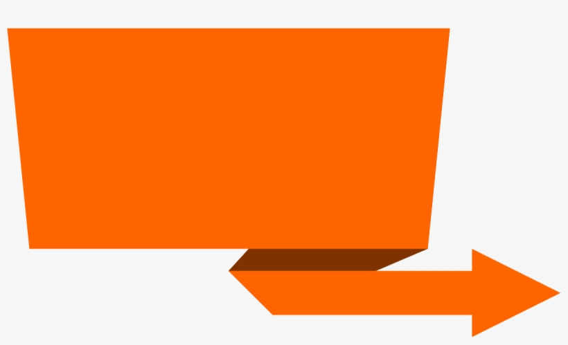 Arrow Vector Free Png Download - Orange Banner Ribbon Png
