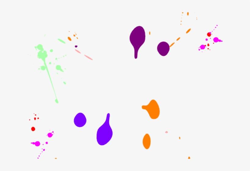 Paint splatter neon. Clipart graphic design png