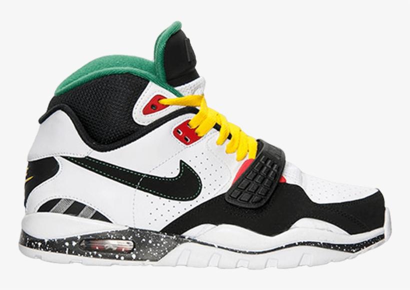 de2d606dd3d9 Nike Air Trainer Sc 2  rasta  - Basketball Shoe PNG Image ...