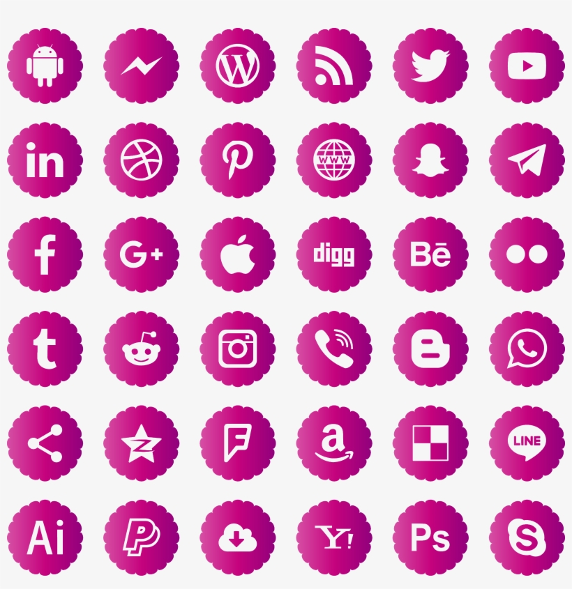 Download Icons Social Media Svg Eps Png Psd Ai Vector Social Media Logos Blue Png Image Transparent Png Free Download On Seekpng