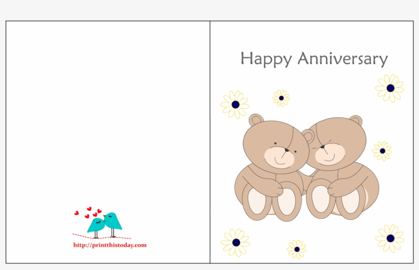 picture about Printable Anniversary Cards named No cost Range Of 40 Lovely Printable Anniversary Playing cards