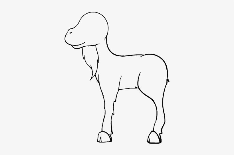 Simple Goat Drawing Clip Art Vector Online - Line Art PNG