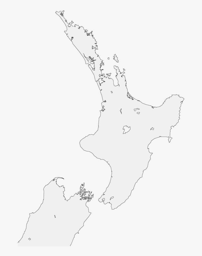New Zealand North Island Outline Map Png Image Transparent Png Free Download On Seekpng