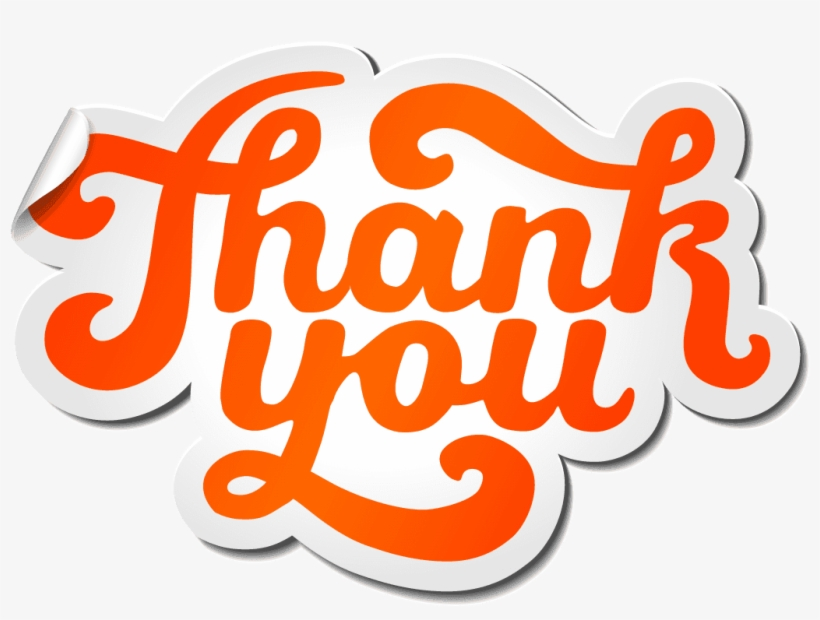 Thank You Png Picture Thank You Typography Png Png Image