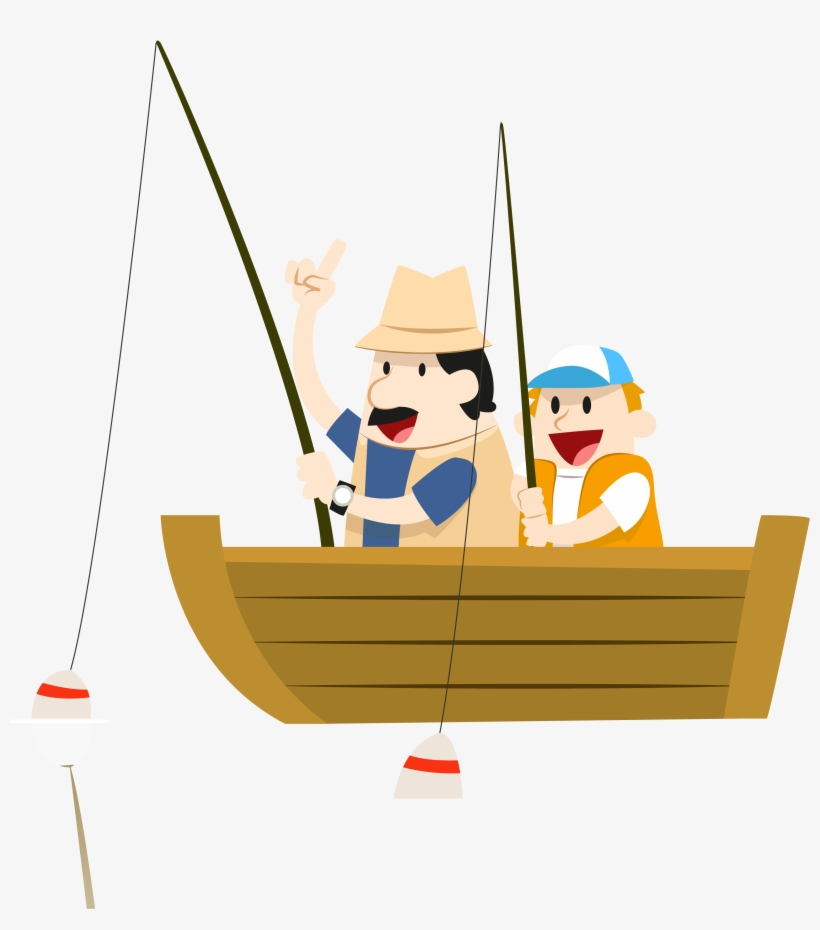 Fishing Boat Clipart Father And Son Fishing Boat Animation Png Png Image Transparent Png Free Download On Seekpng