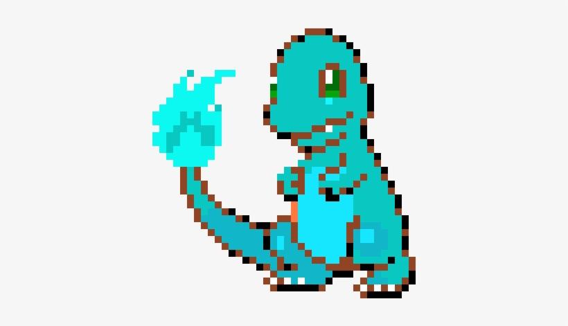 Blue Flame Charmander Pixel Art Pokemon Facile Png Image