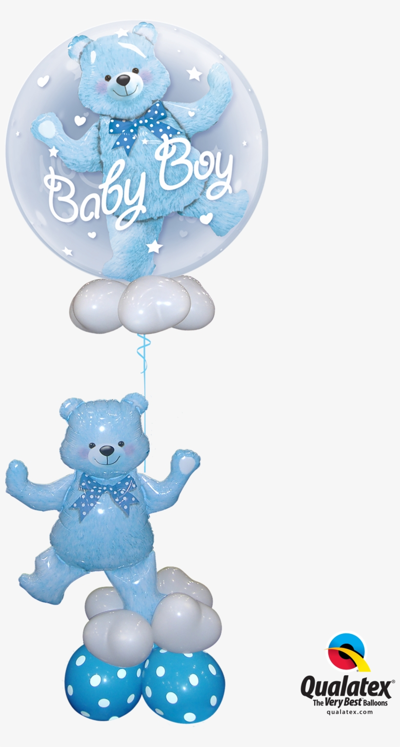 Baby Boy Blue Bear New Baby Balloon Bouquet Balloons Baby Boy Stand Png Image Transparent Png Free Download On Seekpng