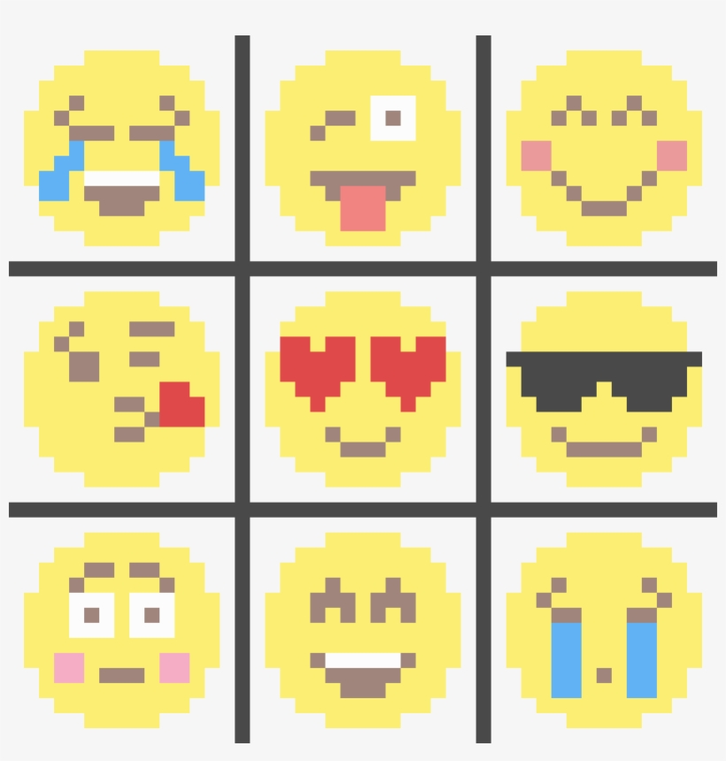Emojis - Dibujos Pixelados De Emojis PNG Image | Transparent PNG ...