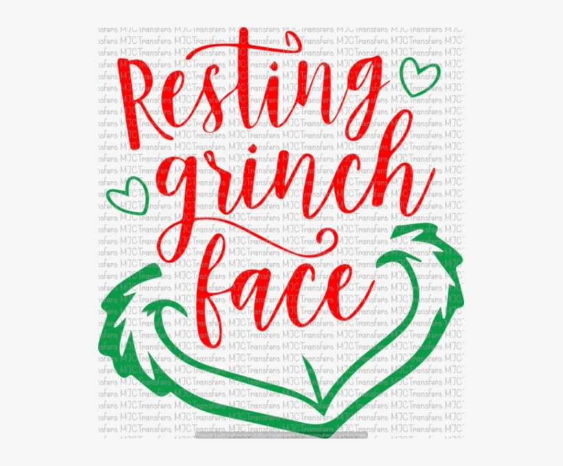 Resting Grinch Face Resting Grinch Face Font Png Image Transparent Png Free Download On Seekpng