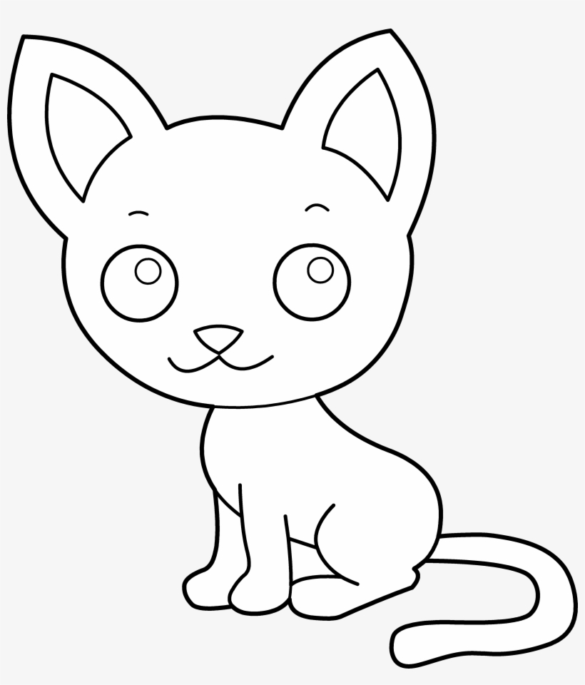 Cute Cat Coloring Pages Item Cat Clipart Coloring Page Png Image Transparent Png Free Download On Seekpng