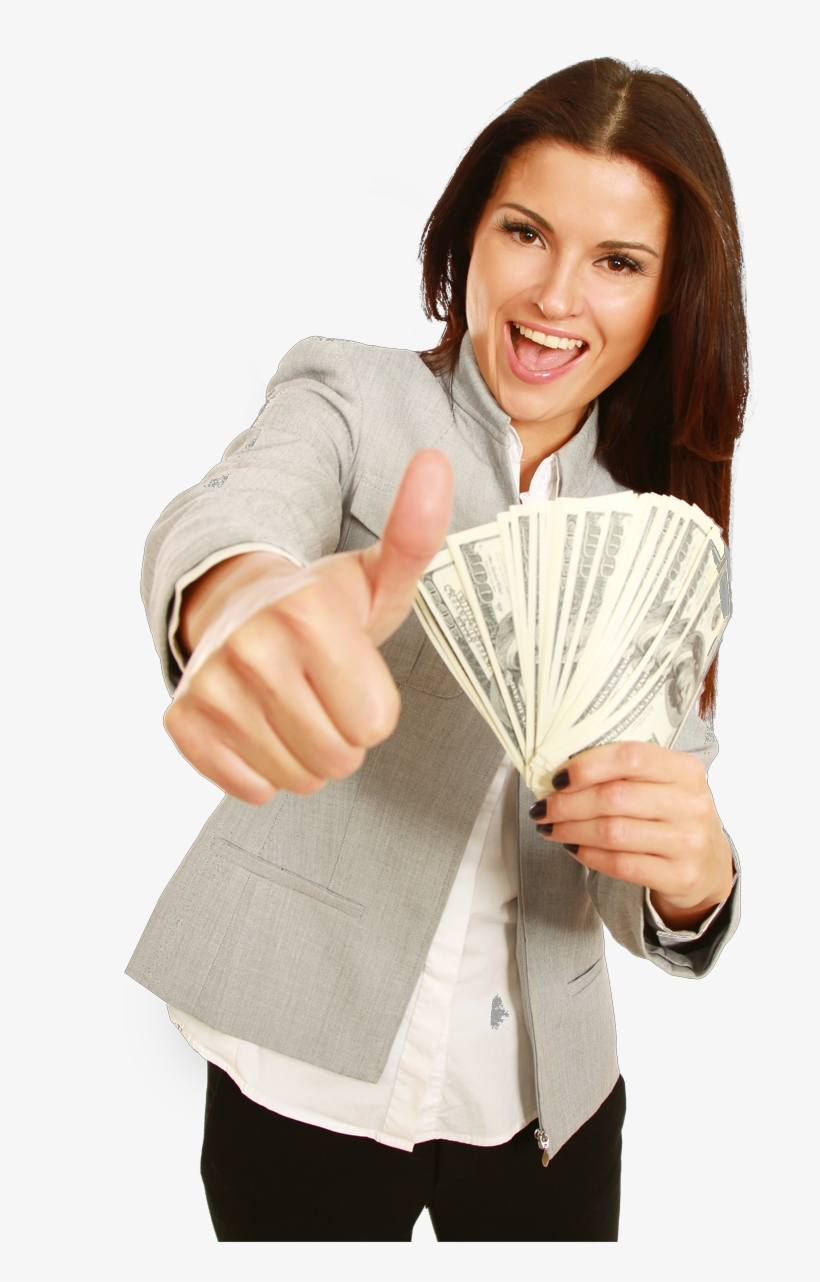 Find A Store - Girl With Money Png PNG Image | Transparent PNG ...