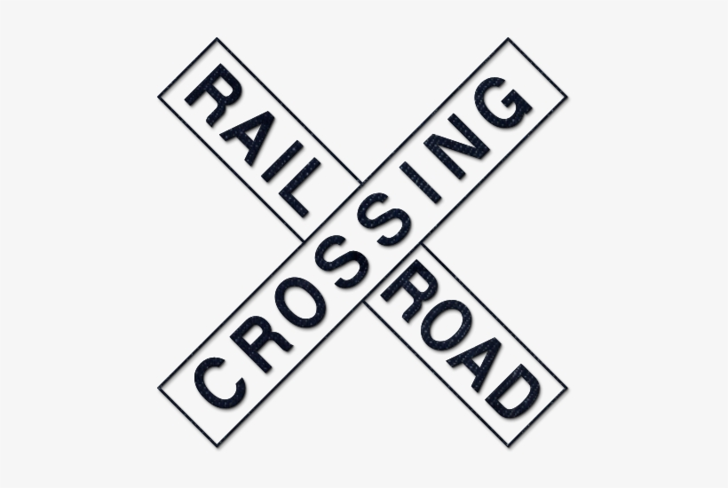 graphic regarding Railroad Crossing Sign Printable identify Rail Street Png Royalty Absolutely free - Blank Railroad Crossing Indication