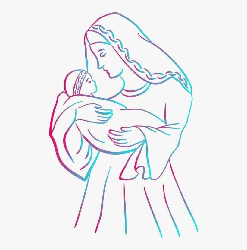 Christ Child Coloring Book Madonna Religion Jesus Christ Drawing Easy Png Image Transparent Png Free Download On Seekpng