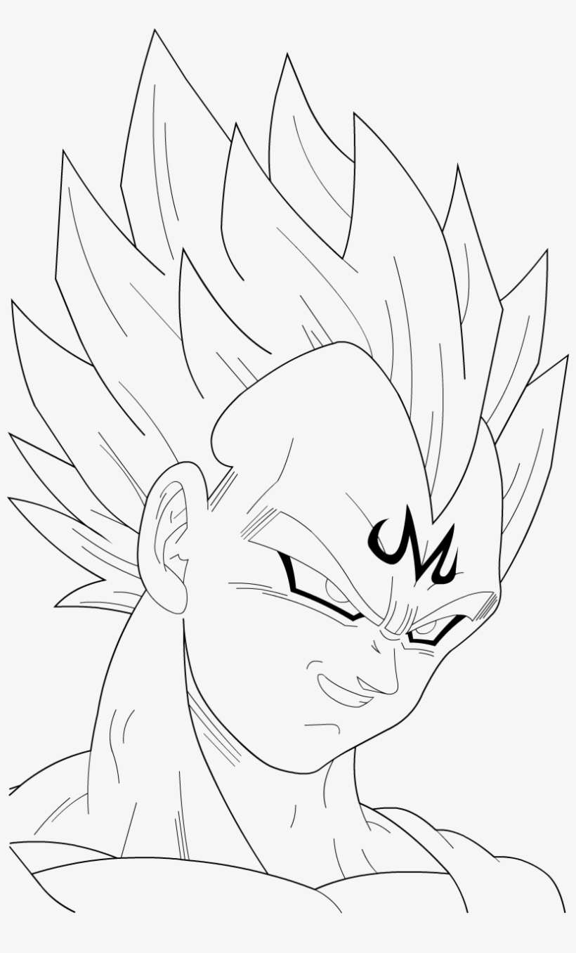 Collection Of Majin Vegeta Drawing Easy High - Majin Vegeta Drawing Easy@seekpng.com