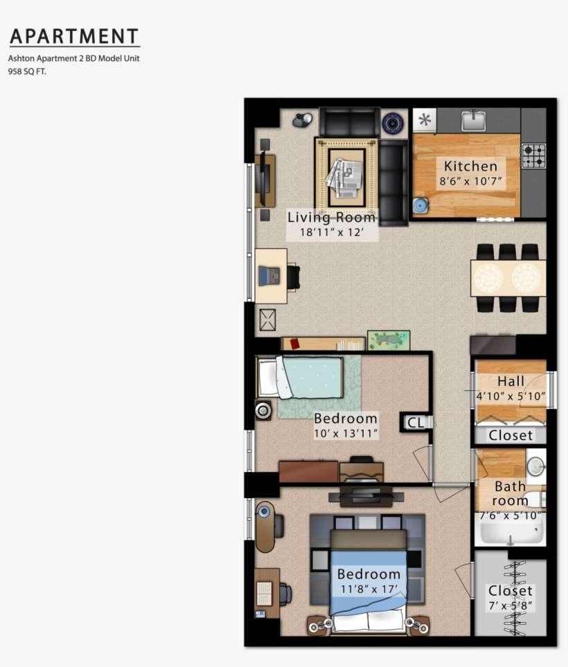 Ashton Apartment Floor Plan Png Image Transparent Png Free Download On Seekpng