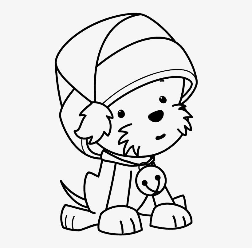 A Puppy for Christmas coloring pages | Puppy coloring pages, Dog ... | 807x820
