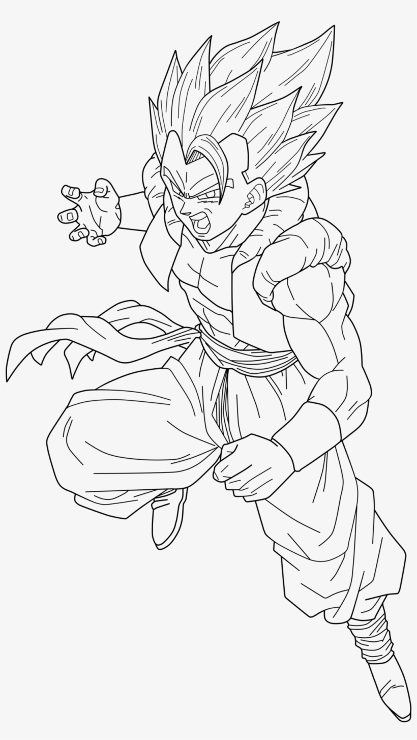 Super Saiyan 4 Gogeta Free Coloring Pages Gogeta Super Saiyan