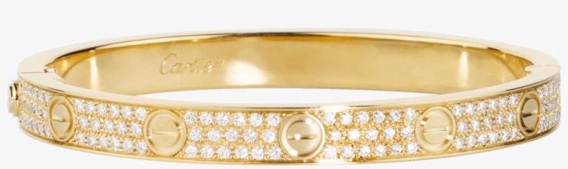 Love Bracelet Diamond Pavedyellow Gold