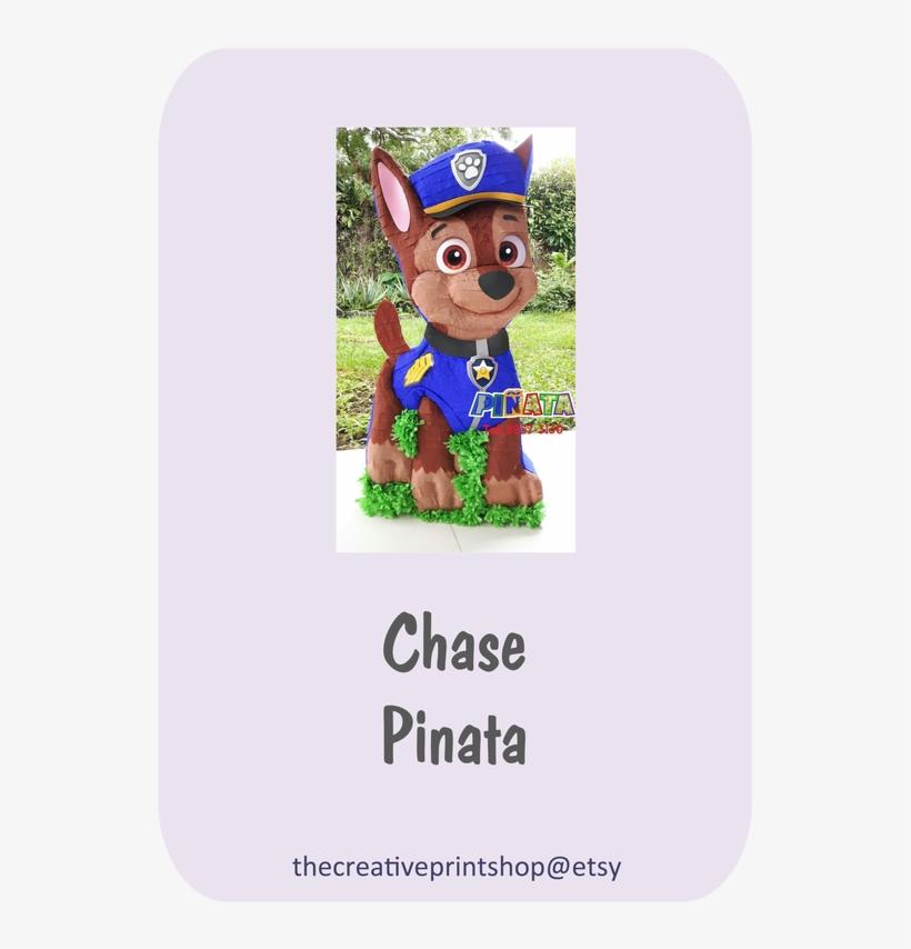 Paw Patrol Chase Pinata Polos Con Frases Graciosas Png