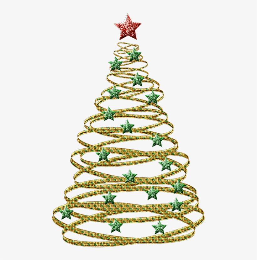 Christmas Tree Transparent Background.Transparent Gold With Green Christmas Tree Clip Art