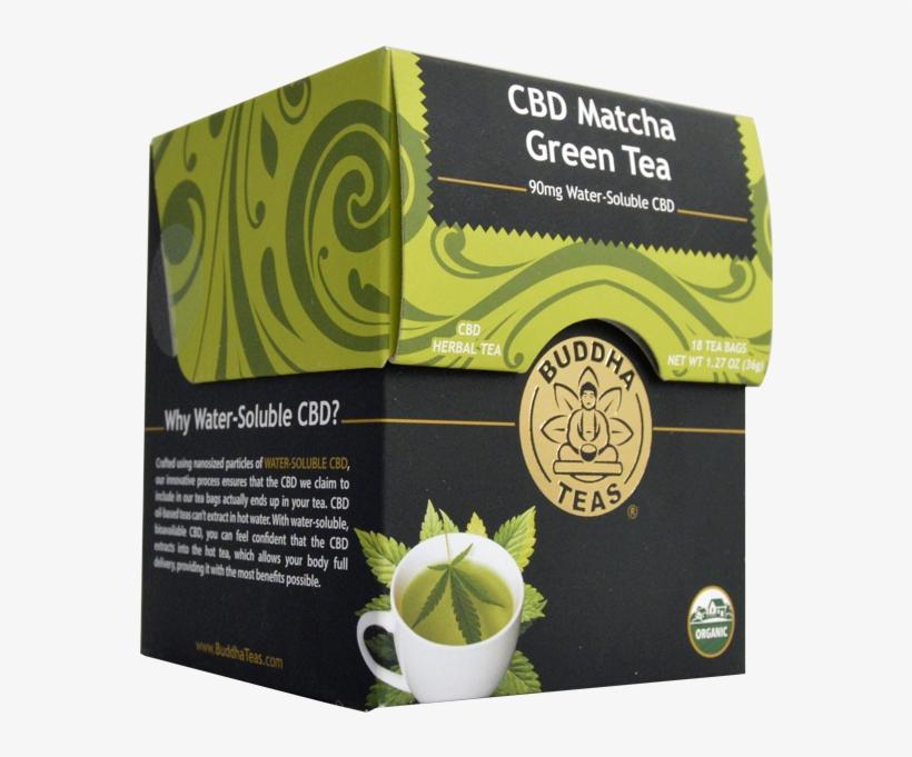 Buddha Tea Cbd Matcha Green Tea 90mg Water Soluble - Buddha Teas