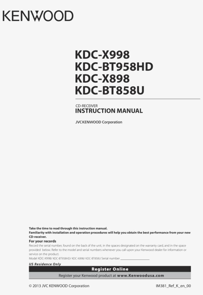 Kenwood Kdc X898 Wiring Diagram Png Image Transparent Png Free Download On Seekpng