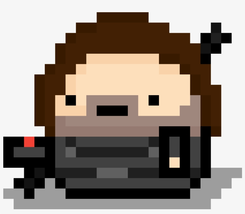 Bucky Barnes Meep Pixel Art Musically Facile Png Image