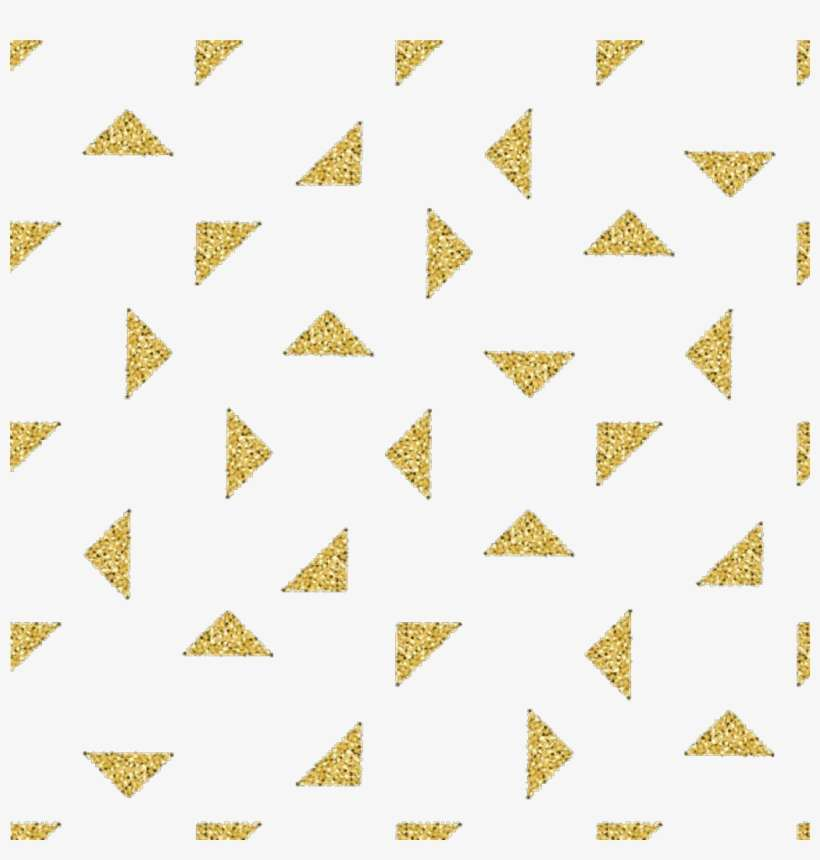Triangles Sticker - Gold White Triangle Background PNG Image
