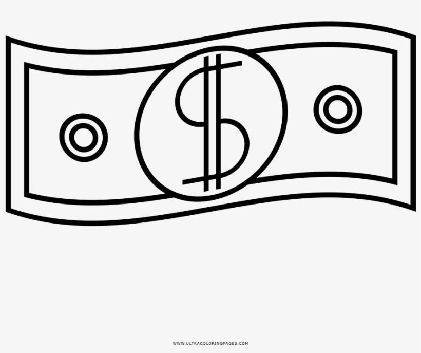 Dollar Coloring Page Dolar Para Colorear Png Image