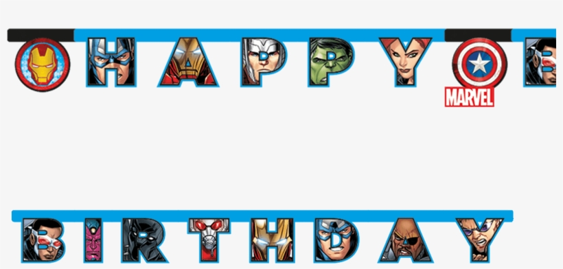 Avengers Happy Birthday Banner Happy Birthday Marvel Png Image