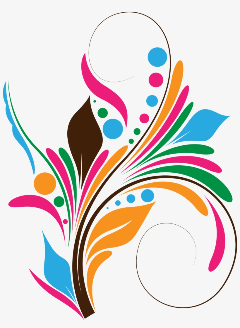 Download Free Coreldraw Tutorials - Colorful Floral Design Png PNG