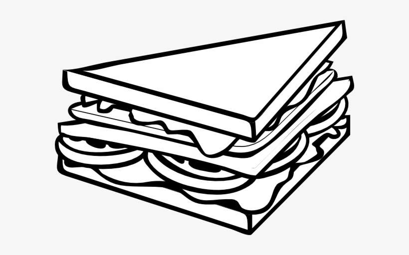 Pizza Clipart Line Drawing