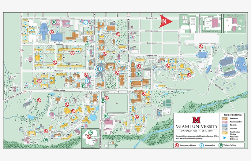 university of miami location map Map Of Miami Florida And Surrounding Areas Oxford Campus Miami university of miami location map