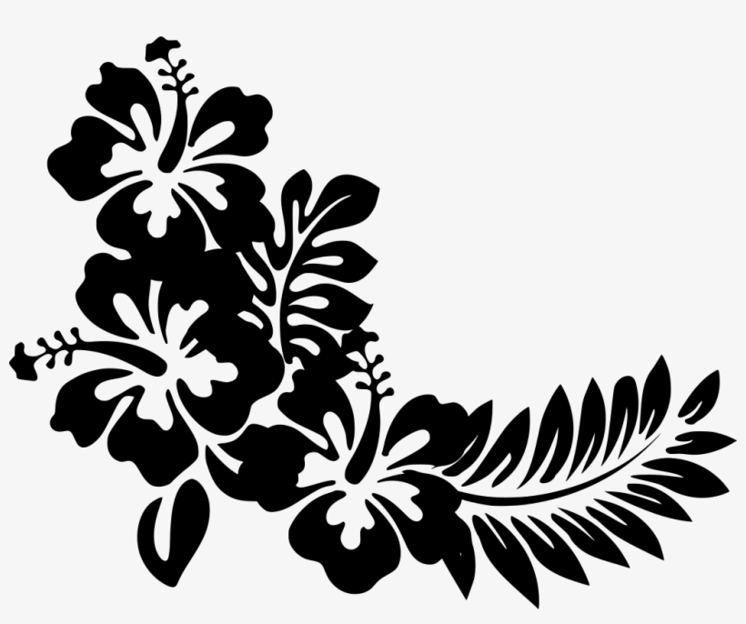 Download Png Hawaiian Flowers Clipart Black And White Png Image