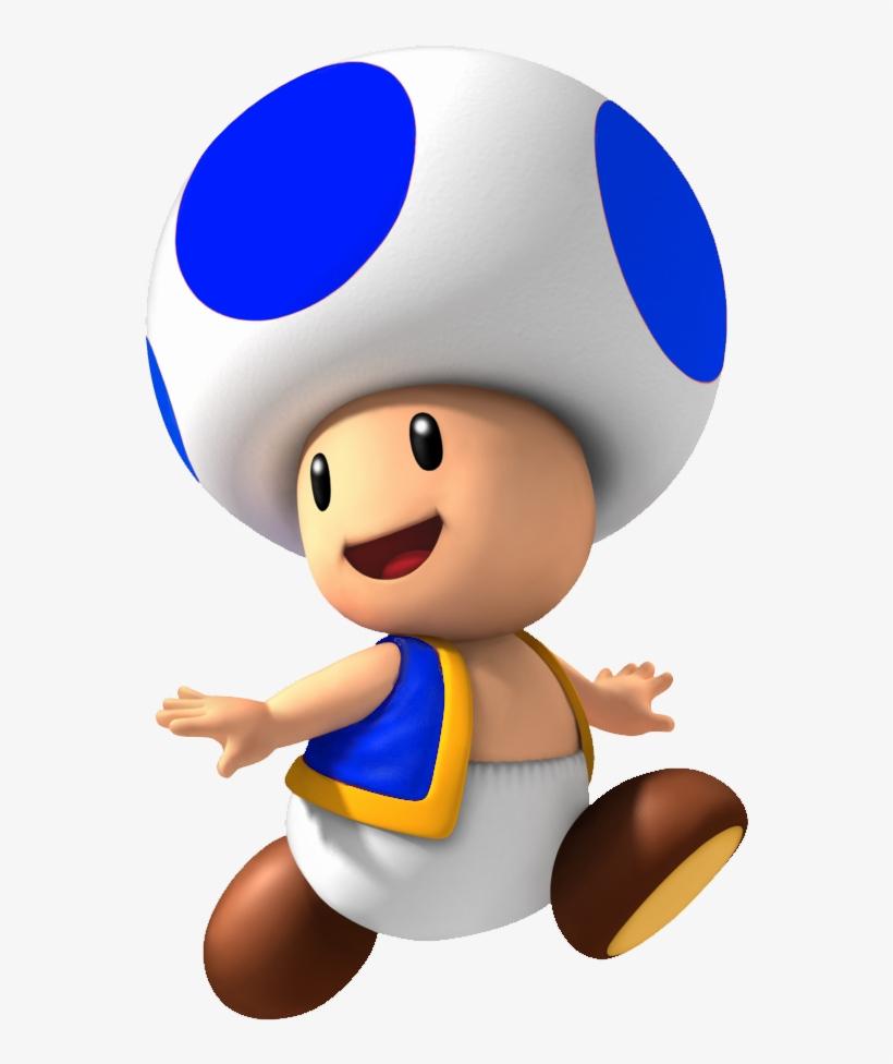 Blue Toad Png Mushroom Super Mario Kart Png Image