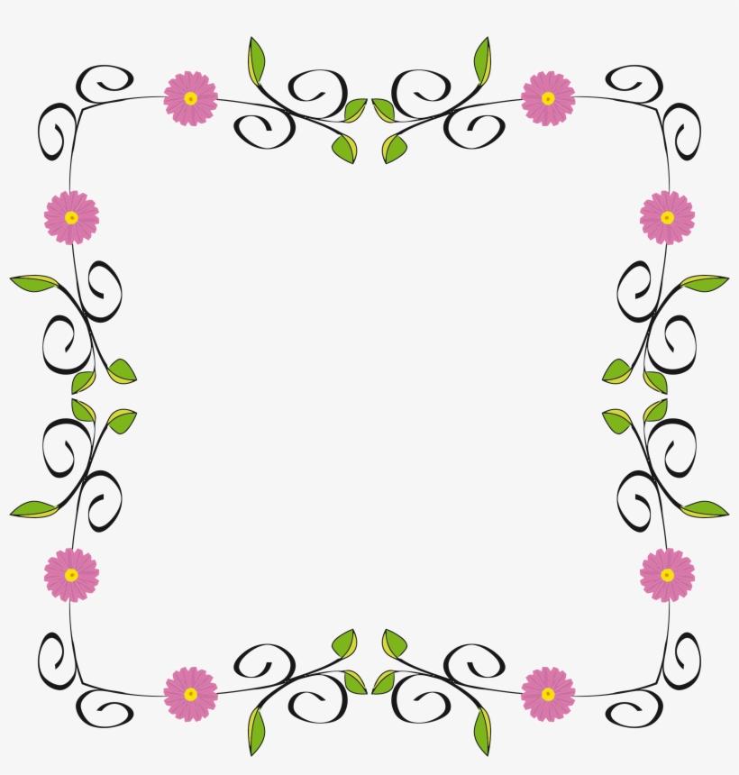 Floral Border Floral Design Border Png Png Image Transparent Png
