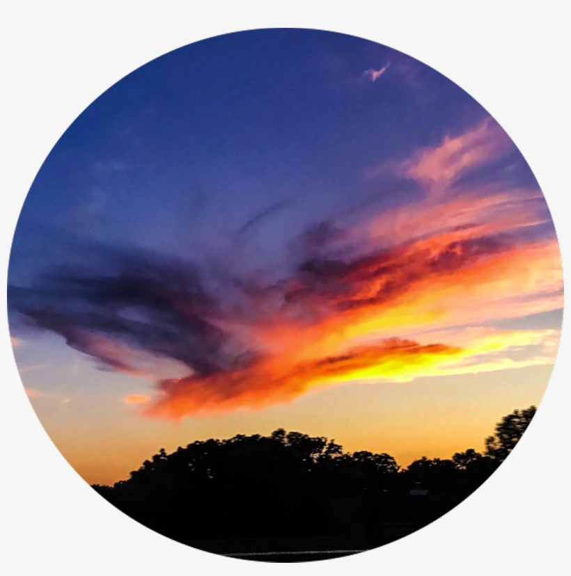 Tumblr Sticker Sunset Colorful Circle Aesthetic Circle Png Image Transparent Png Free Download On Seekpng