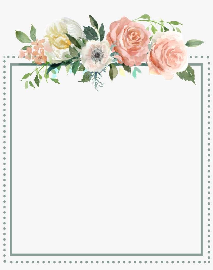 Square Flower Transparent Border Good Morning Wednesday Blessings