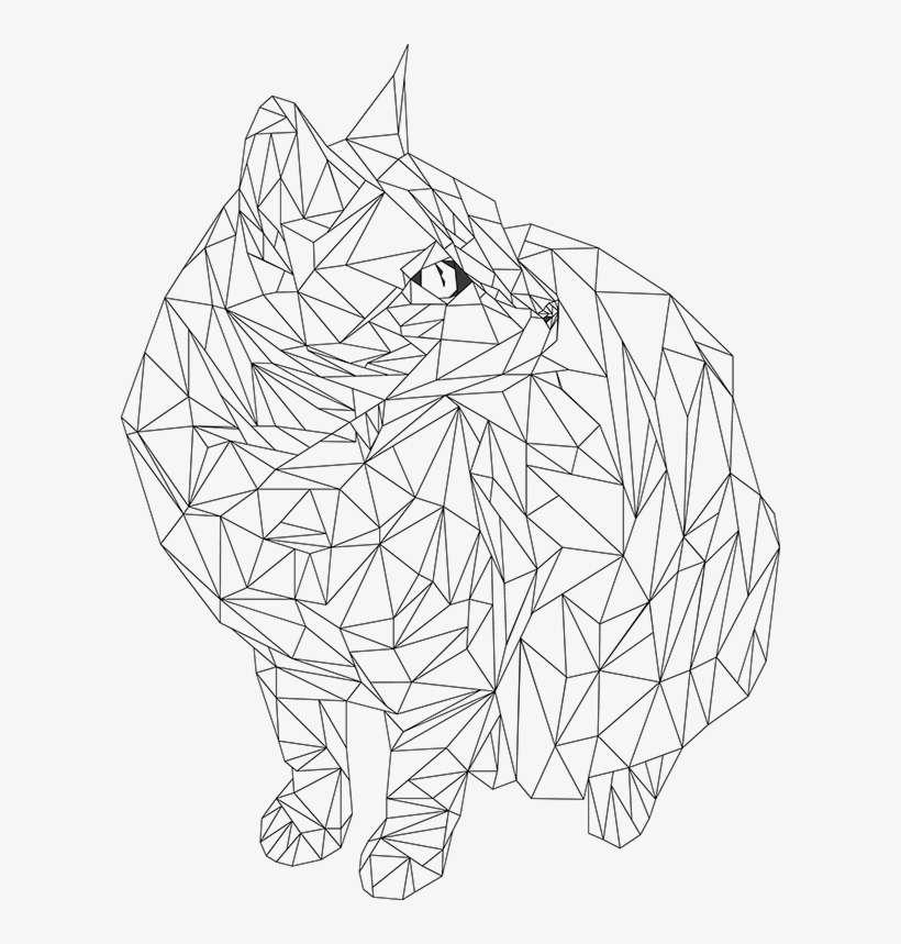 Geometric Animal Drawing At Getdrawings Geometric Line Art