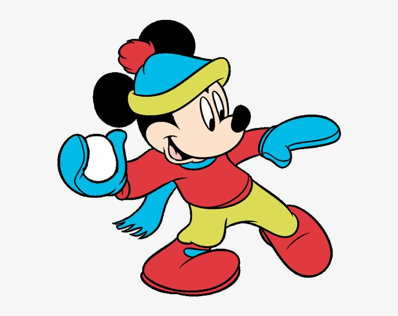 Mickey Mouse Clipart Mickey Mouse Winter Coloring Pages Png Image Transparent Png Free Download On Seekpng
