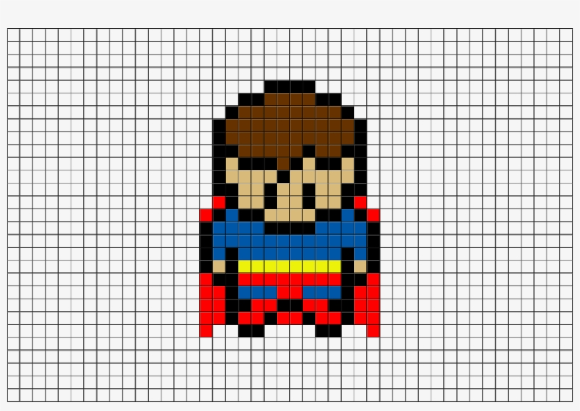 Superman Pixel Art From Brikbook Small Pixel Art Grid Png
