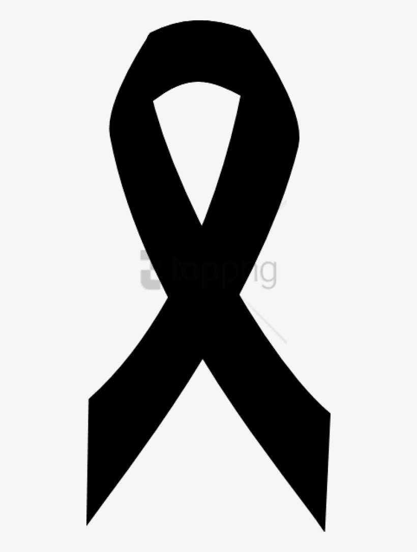 Free Png Download Breast Cancer Ribbon In Black Png Black And