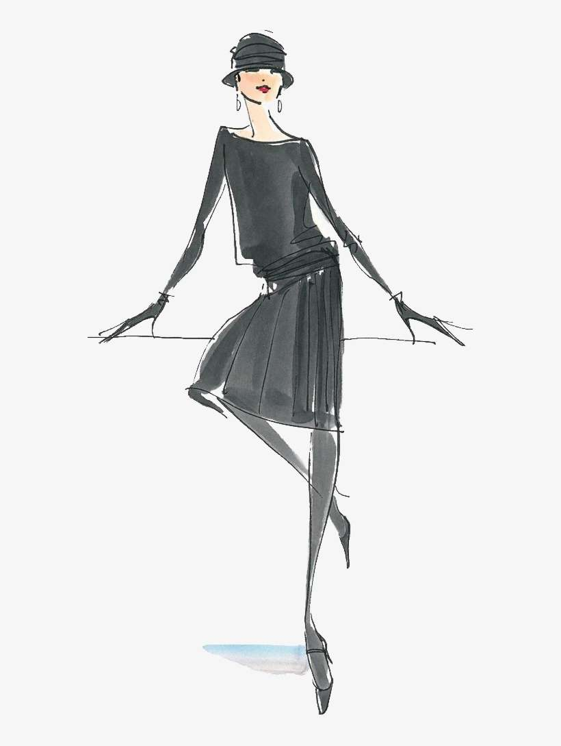 Fashion Illustration Drawing Design Chanel Women Coco Chanel Fashion Sketch Png Image Transparent Png Free Download On Seekpng